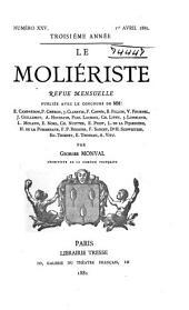 Le Moliériste: revue mensuelle, Volume3