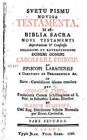 Svetu Pismu Noviga Testamenta: Pars secunda