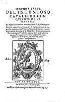Segunda parte del Ingenioso cavallero Don Quixote de La Mancha PDF