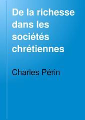 De la richesse dans les sociétés chrétiennes
