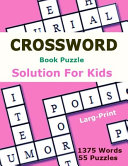 Crossword Book Puzzle Solution for Kids