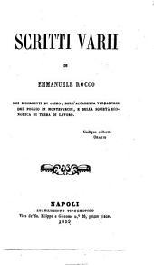Scritti varii di Emmanuele Rocco