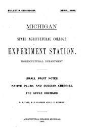 Native Plums ; Russian Cherries: Volumes 122-124
