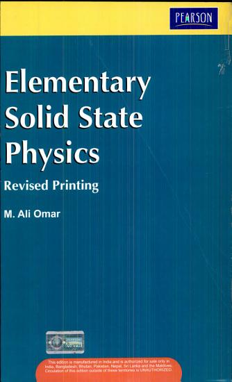 Elementary Solid State Physics PDF