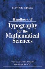 Handbook of Typography for the Mathematical Sciences