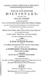 Antiqu   lingu   Britannic   thesaurus  being a British  or Welsh English dictionary   2 issues   PDF