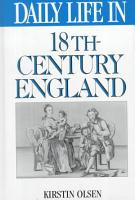Daily Life in 18th century England PDF