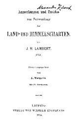 Anmerkungen und Zusätze zur Entwerfung der Land- und Himmelscharten