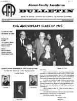Bulletin   Alumni Faculty Association  School of Medicine  University of California PDF