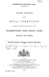 Report s  of the Royal Commission Appointed to Inquire Into the Working of the Elementary Education Acts  England and Wales  with Evidence  Etc       PDF