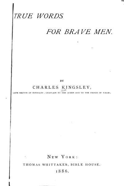 Download True Words for Brave Men Book