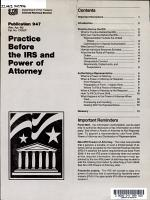 Practice Before the IRS and Power of Attorney