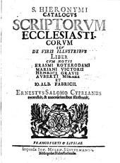 Catalogus scriptorum ecclesiasticorum seu de viris illustribus liber