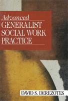 Advanced Generalist Social Work Practice PDF