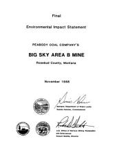 Peabody Big Sky Mine, Area B, Rosebud County: Environmental Impact Statement