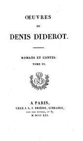 Œuvres de Denis Diderot: Romans et contes