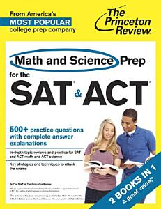 Math and Science Prep for the SAT   ACT Book