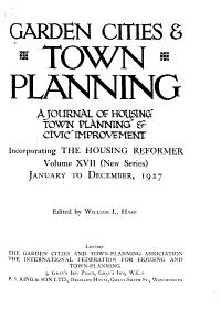 Garden Cities   Town Planning PDF