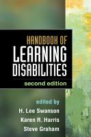 Handbook of Learning Disabilities  Second Edition PDF