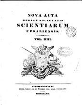 NOVA ACTA REGIAE SOCIETATIS SCIENTIARUM UPSALIENSIS.