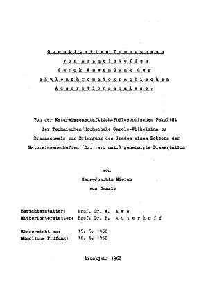 Quantitative trennungen von arzneistoffen durch anwendung der s    PDF