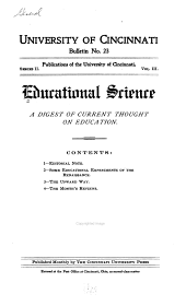 Educational Science: Volume 1
