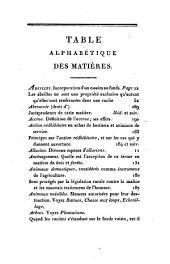 Les lois rurales de la France: rangées dans leur ordre naturel, Volume1
