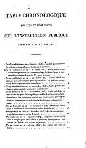 Recueil de lois et règlemens concernant l'instruction publique: depuis l'édit de Henri iv en 1598, jusqu'à ce jour. Publié par ordre du ... Grand-Maître de l'Université de France, Volume3