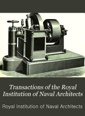 Transactions of the Royal Institution of Naval Architects: Volume 31