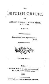 The British Critic: Volume 35