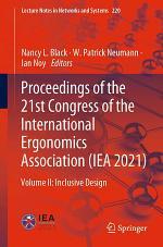 Proceedings of the 21st Congress of the International Ergonomics Association (IEA 2021)