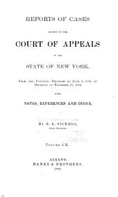 Reports of Cases Decided in the Court of Appeals of the State of New York: Volume 110