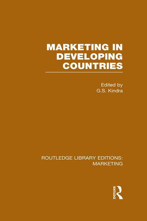 Marketing in Developing Countries  RLE Marketing  PDF