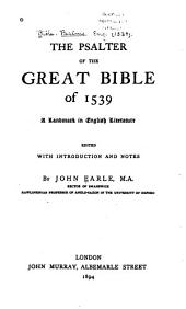 The Psalter of the Great Bible of 1539: A Landmark in English Literature
