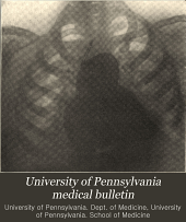 University of Pennsylvania Medical Bulletin: Volume 22