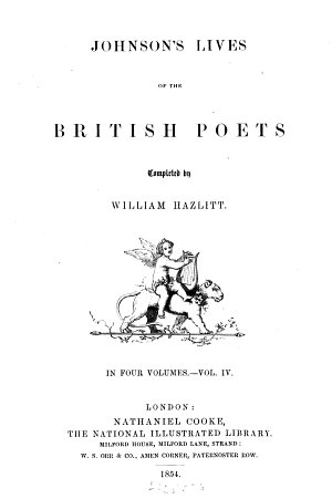 Lives of the British Poets