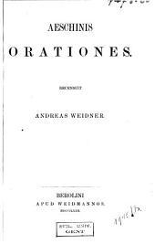 Aeschines orationes