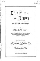 Dainty Dishes for All the Year Round PDF