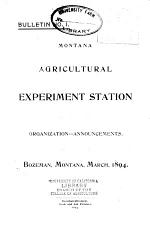 Bulletin - Montana State College, Agricultural Experiment Station