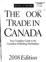 The Book Trade in Canada PDF