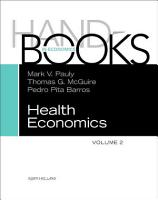 Handbook of Health Economics PDF