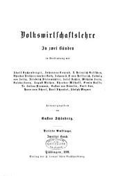 Handbuch der politischen Oekonomie: Band 2