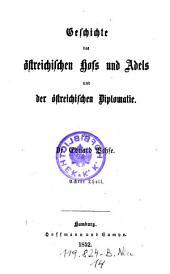 Geschichte des Ostreichischen Hofs und Adels und der Ostreichischen Diplomatie