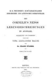 Des Cornelius Nepos Lebensbeschreibungen in Auswahl: Erklärungen