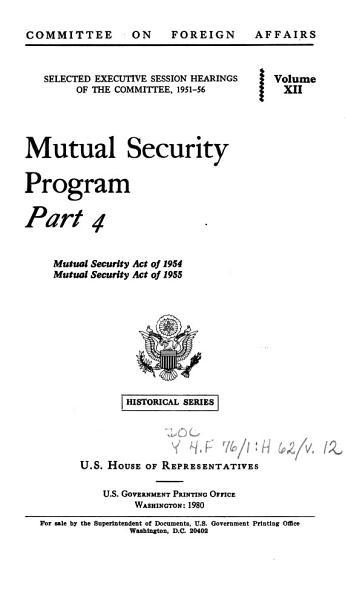 Download Mutual Security Program Book