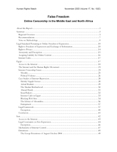 False Freedom: Online Censorship in the Middle East and North Africa