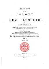Records of the Colony of New Plymouth, in New England: Volume 10