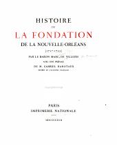 Histoire de la fondation de la Nouvelle-Orléans (1717-1722)
