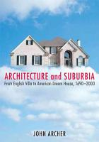 Architecture and Suburbia PDF