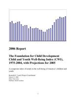 Foundation for Child Development Child and Youth Well Being Index  CWI   1975 2004  with Projections For 2005 PDF